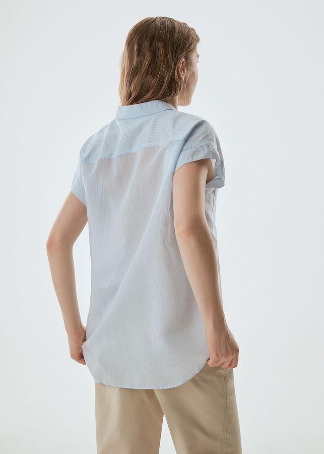 Блуза Elis BL0237 (бело-голубой)