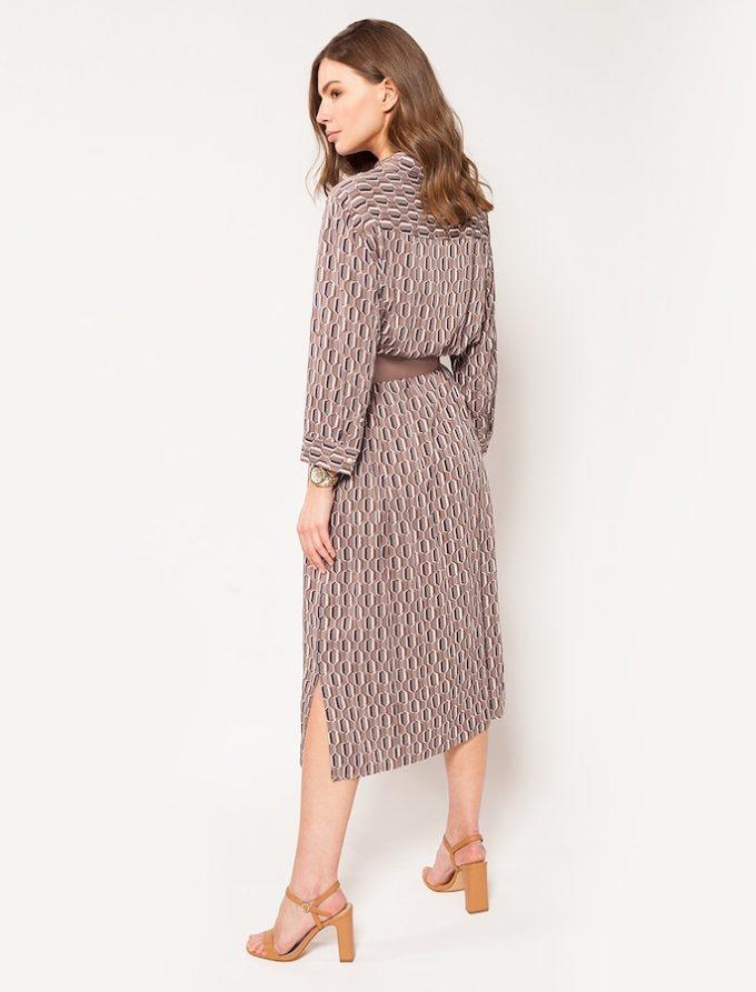 Платье Vilatte D22.473 (кофейный)