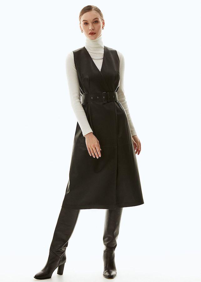 Платье из экокожи Elis DR0217